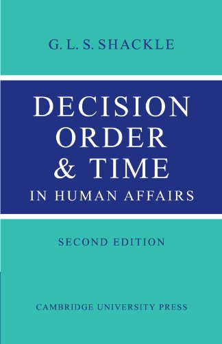 9780521147491: Decision Order and Time in Human Affairs