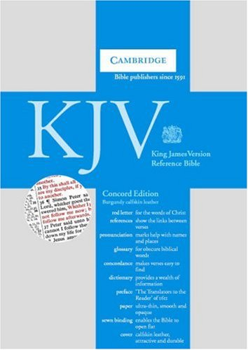 9780521150347: KJV Concord Reference Edition Red Letter with Concordance and Dictionary Dark Burgundy calfskin RCD267
