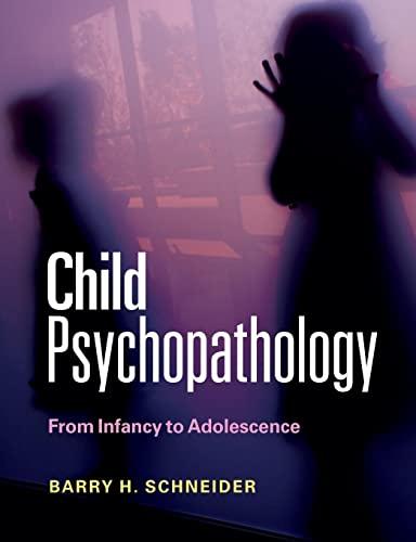 9780521152112: Child Psychopathology: From Infancy to Adolescence