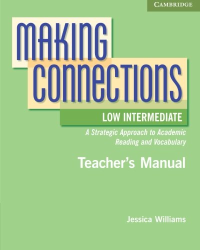 9780521152174: Making Connections Low Intermediate Teacher's Manual: A Strategic Approach to Academic Reading and Vocabulary
