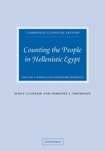 Counting the People in Hellenistic Egypt 2 Volume Paperback Set (Hardcover): Willy Clarysse
