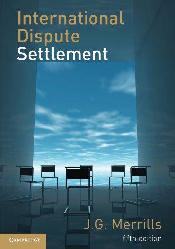 9780521153393: International Dispute Settlement