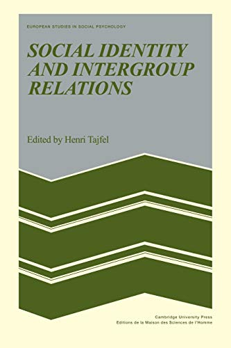 9780521153652: Social Identity and Intergroup Relations Paperback (European Studies in Social Psychology)
