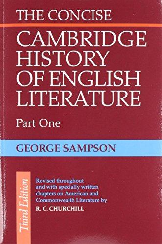 Concise Cambridge History of English Literature 2 Part Set (Paperback): George Sampson