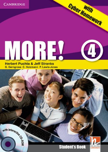 9780521155663: More!  4 Student's Book with Interactive CD-ROM with Cyber Homework