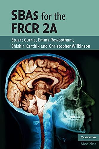 9780521156448: SBAs for the FRCR 2A (Cambridge Medicine (Paperback))
