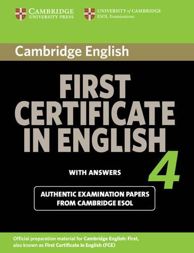 9780521156943: Cambridge first certificate in english. For updated exam. Student's book with answers. Per le Scuole superiori: 4