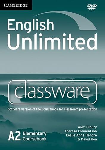 English Unlimited Elementary Classware DVD-Rom: A2: Coursebook Classware: Alex Tilbury, Theresa ...