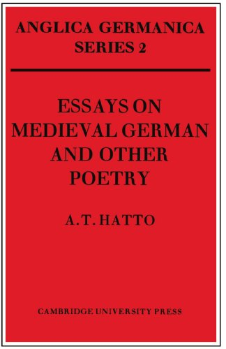 9780521158558: Essays on Medieval German and Other Poetry (Anglica Germanica Series 2)
