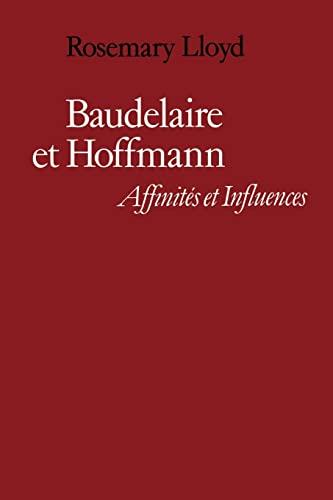 9780521159333: Baudelaire et Hoffmann: Affinit�s et Influences