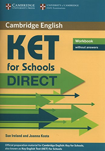 9780521167185: KET for Schools Direct Workbook without answers