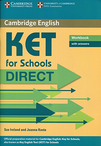 9780521167192: KET for schools direct. Workbook with answers. Per la Scuola media