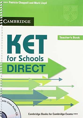 9780521167208: KET for Schools Direct Teacher's Book with Class Audio CD