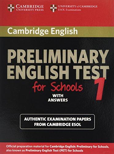 9780521168250: Preliminary english test for school. Student's book. With answers. Per gli Ist. tecnici e professionali: 1