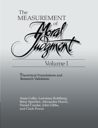 The Measurement of Moral Judgment (0521169100) by Anne Colby; Lawrence Kohlberg
