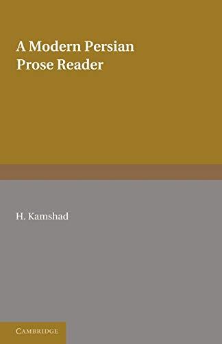 9780521169172: A Modern Persian Prose Reader