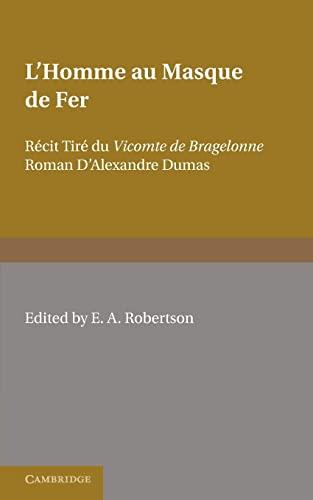 9780521169493: L'Homme au Masque de Fer: Récit Tiré du Vicomte de Bragelonne Roman D'Alexandre Dumas