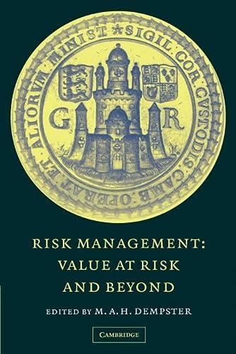 9780521169639: Risk Management: Value at Risk and Beyond