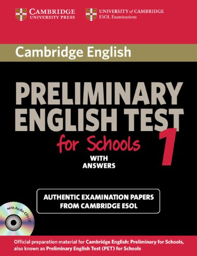 9780521170604: Cambridge Preliminary English Test for Schools 1 Self-study Pack (Student's Book with Answers with Audio CDs (2)): Official Examination Papers from ... ESOL Examinations (PET Practice Tests)