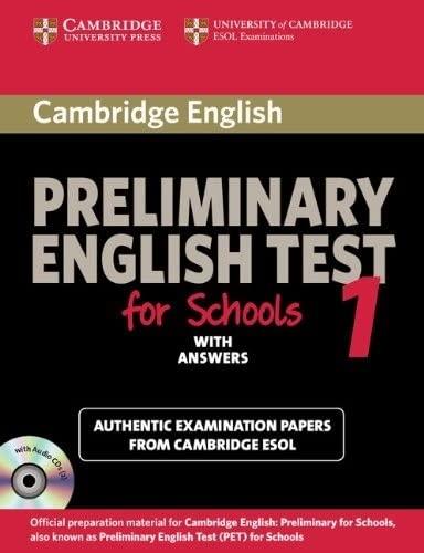 9780521170604: Preliminary english test for school. Student's book. Con CD Audio. Pergli Ist. tecnici e professionali: 1