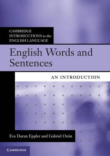 9780521171878: English Words and Sentences: An Introduction (Cambridge Introductions to the English Language)
