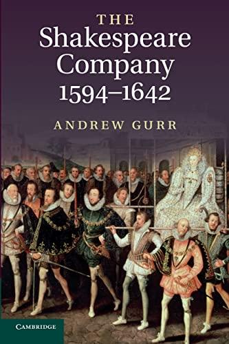 9780521172455: The Shakespeare Company, 1594-1642