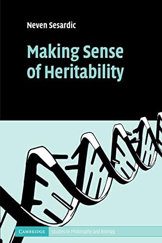 9780521173339: Making Sense of Heritability (Cambridge Studies in Philosophy and Biology)