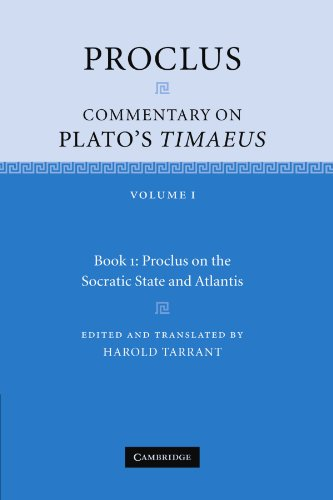 9780521173995: Proclus: Commentary on Plato's Timaeus: Volume 1, Book 1: Proclus on the Socratic State and Atlantis