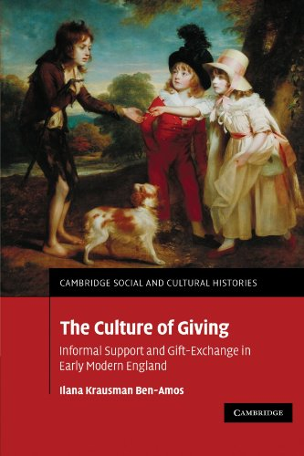9780521174138: The Culture of Giving: Informal Support and Gift-Exchange in Early Modern England (Cambridge Social and Cultural Histories)