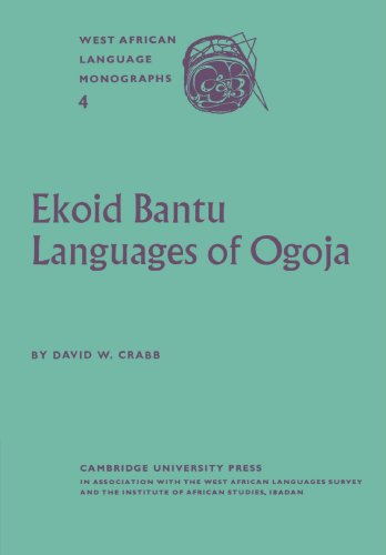 9780521175272: Ekoid Bantu Languages of Ogoja, Eastern Nigeria, Part 1, Introduction, Phonology and Comparative Vocabulary Paperback
