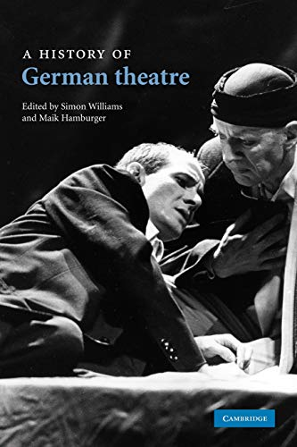 9780521175357: A History of German Theatre