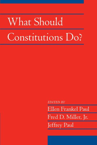 9780521175531: What Should Constitutions Do? (Social Philosophy and Policy)