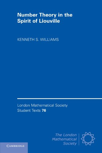 9780521175623: Number Theory in the Spirit of Liouville (London Mathematical Society Student Texts)