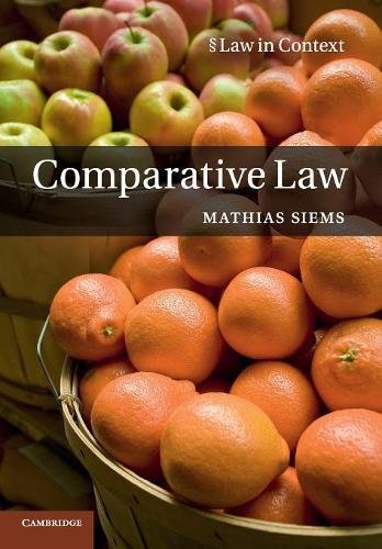 9780521177177: Comparative Law (Law in Context)