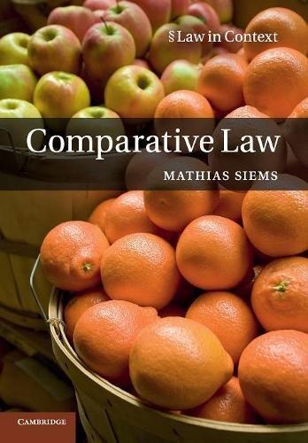 9780521177177: Comparative Law