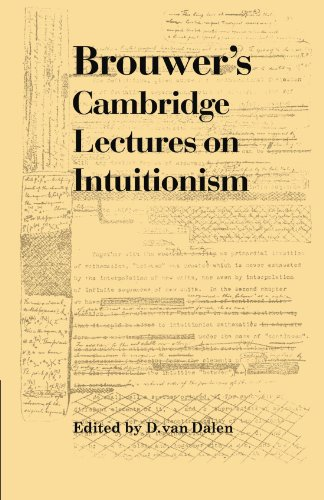9780521177368: Brouwer's Cambridge Lectures on Intuitionism