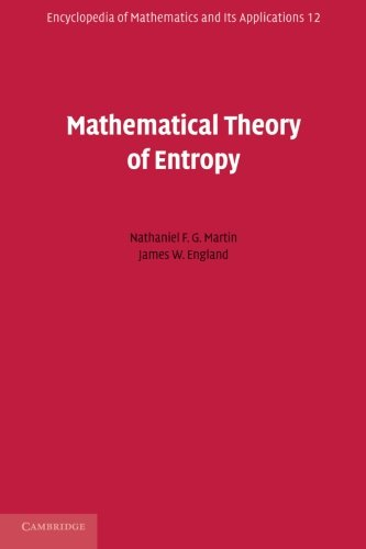 9780521177382: Mathematical Theory of Entropy (Encyclopedia of Mathematics and its Applications)
