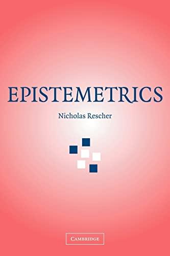 9780521178501: Epistemetrics