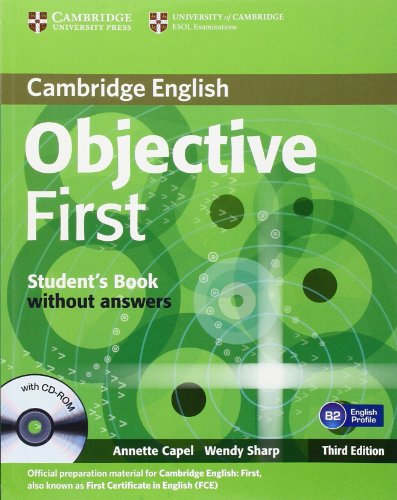 9780521178785: Objective first certificate. Student's book. Without answers. Per le Scuole superiori. Con CD-ROM [Lingua inglese]