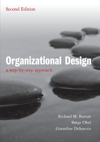 9780521180238: Organizational Design: A Step-by-Step Approach