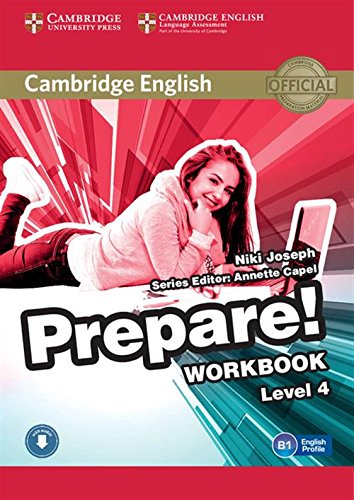 9780521180283: Cambridge English Prepare! Level 4 Workbook with Audio
