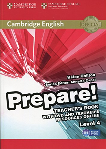 9780521180290: Cambridge English Prepare! Level 4 Teacher's Book with DVD and Teacher's Resources Online