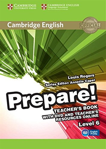 9780521180344: Cambridge English Prepare! Level 6 Teacher's Book with DVD and Teacher's Resources Online