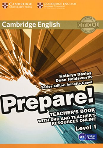 9780521180450: Cambridge English Prepare! Level 1 Teacher's Book with DVD and Teacher's Resources Online
