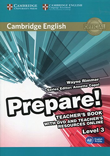 9780521180566: Cambridge English Prepare! Level 3 Teacher's Book with DVD and Teacher's Resources Online: Level 3