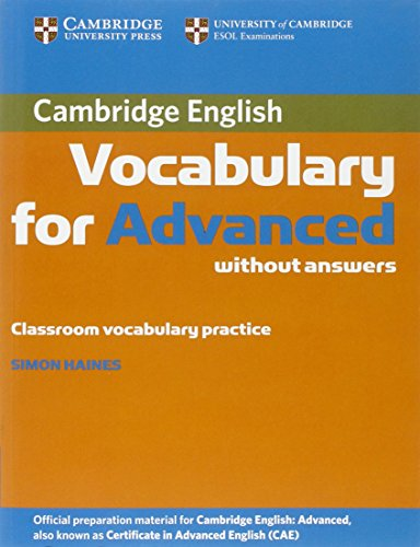 9780521182195: Cambridge Vocabulary for Advanced without Answers