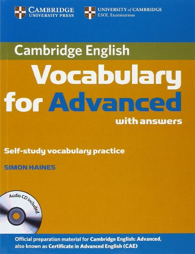 9780521182201: Cambridge Vocabulary for Advanced with Answers and Audio CD (Cambridge English)