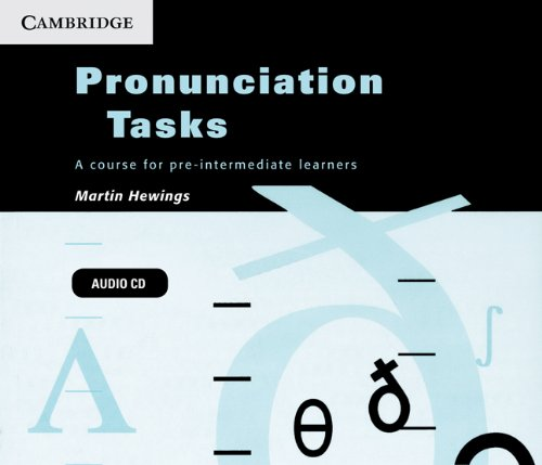 9780521183543: Pronunciation Tasks Audio CDs (3): A Course for Pre-intermediate Learners