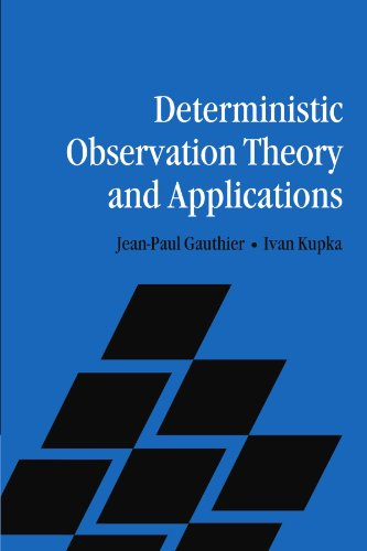 9780521183864: Deterministic Observation Theory and Applications