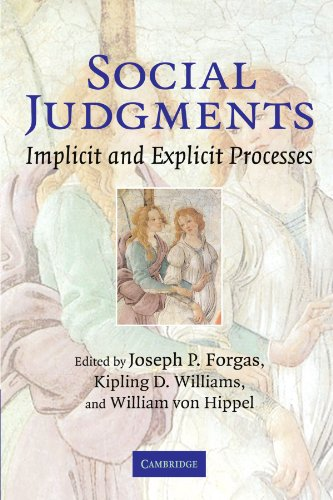 Social Judgments: Implicit and Explicit Processes